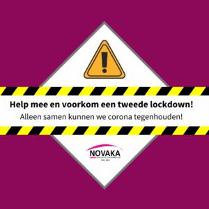 """Instagram bericht """"Help mee en voorkom een tweede lockdown!"""""""