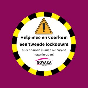 "Profiel foto social media ""Help mee en voorkom een tweede lockdown!"""