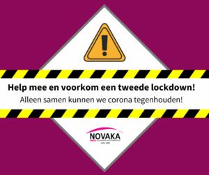 """Social media bericht """"Help mee en voorkom een tweede lockdown!"""""""